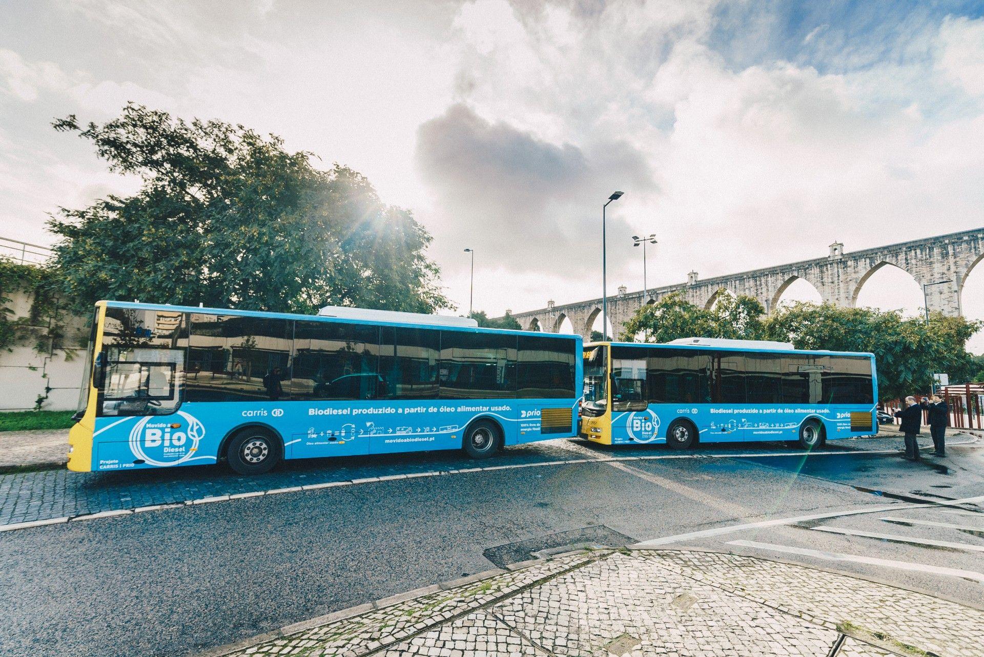 Primeira carreira de autocarros movidos a biodiesel avançado já circula em Lisboa