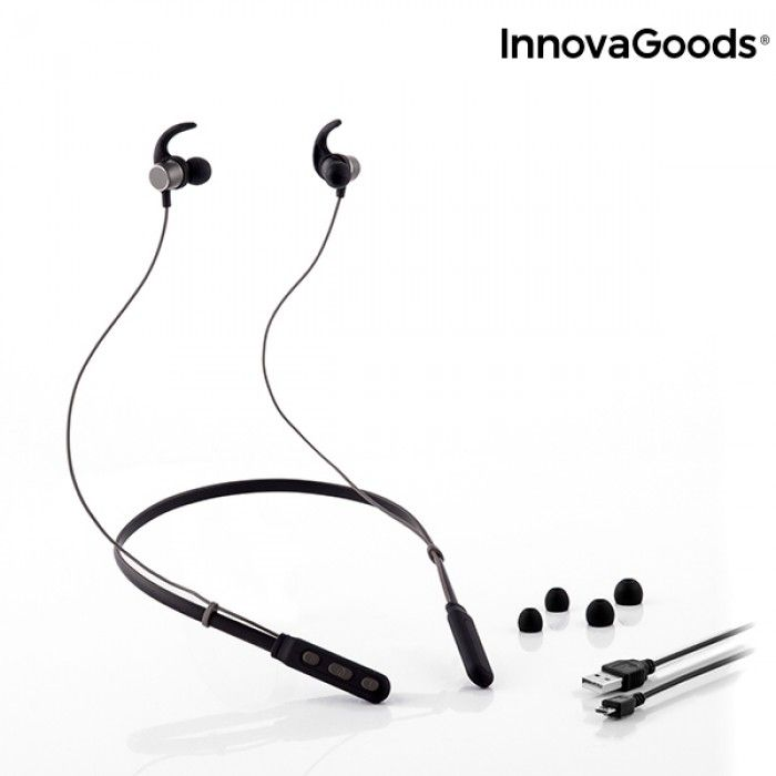 Magnetic Wireless Headphones for Sports  InnovaGoods