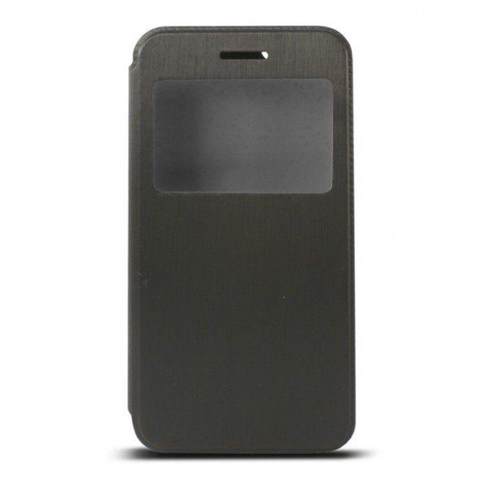 Capa tipo Livro para Telemóvel com Janela Iphone 6 Plus Preto
