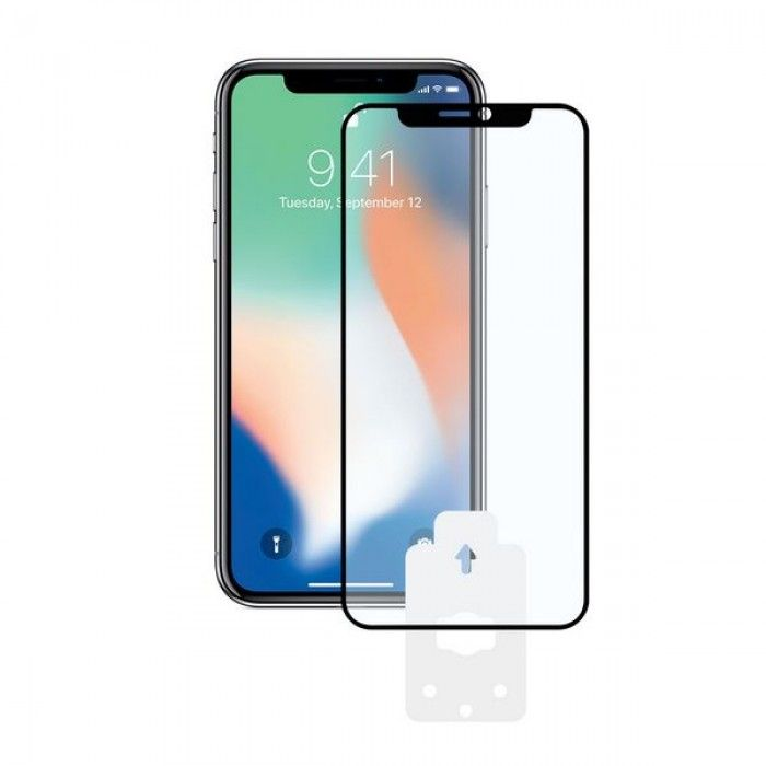Tempered Glass Mobile Screen Protector Iphone Xr KSIX 2.5D Black