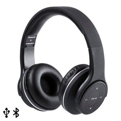 Auriculares de Diadema Dobráveis com Bluetooth 146131 USB FM 6W Preto