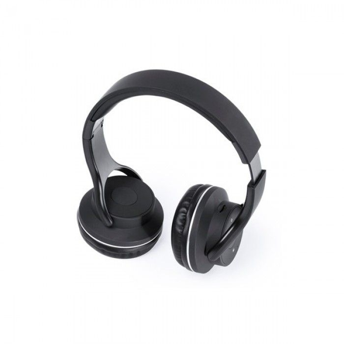 Foldable Headphones with Bluetooth USB FM 6W Black 146131