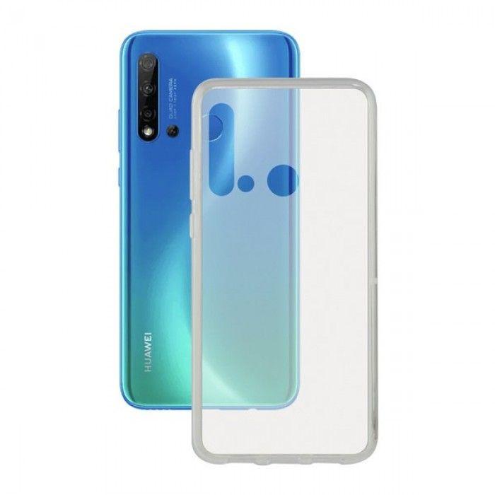 Mobile cover Huawei Nova 5i KSIX Flex Transparent