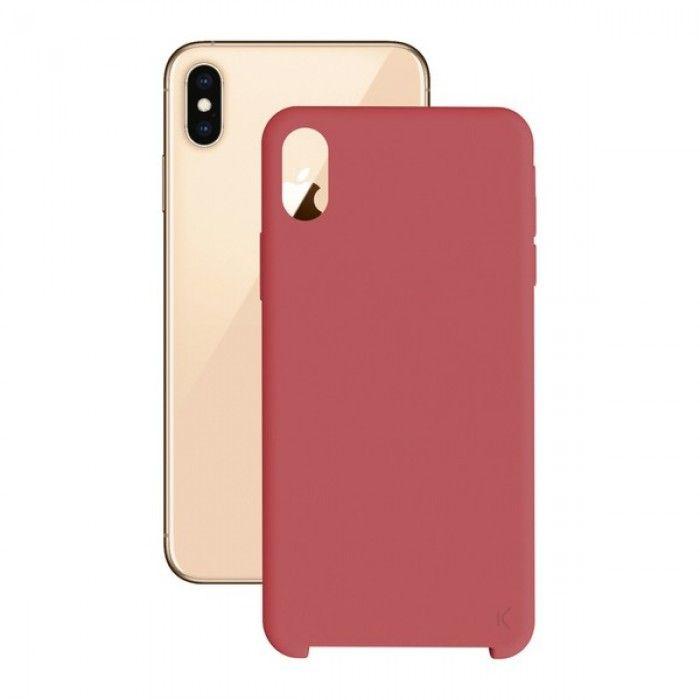 Funda para Móvil Iphone Xs Max KSIX Soft Rojo