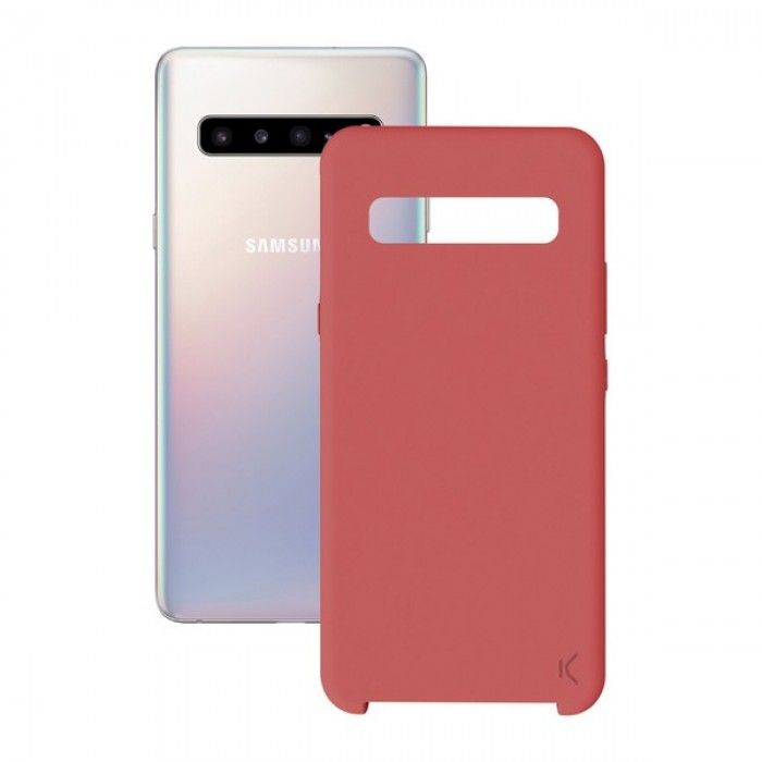 Mobile cover Samsung Galaxy M10 KSIX Soft Red