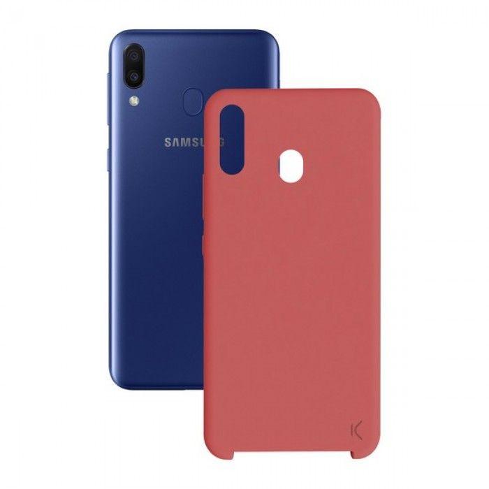 Capa para Telemóvel Samsung Galaxy M20 KSIX Soft Vermelho