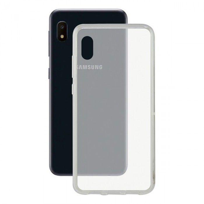 Mobile cover Samsung Galaxy A10e KSIX Flex TPU Transparent
