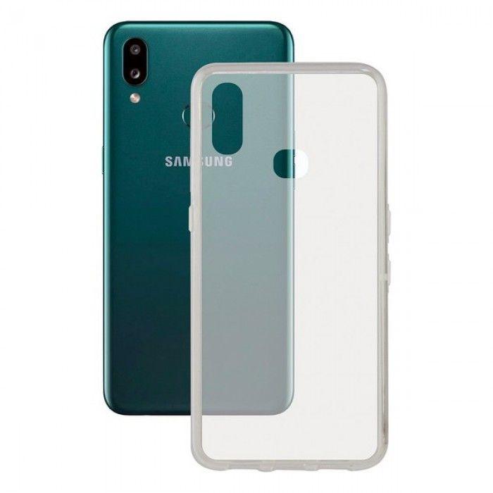 Funda para Móvil Samsung Galaxy A10s KSIX Flex TPU Transparente