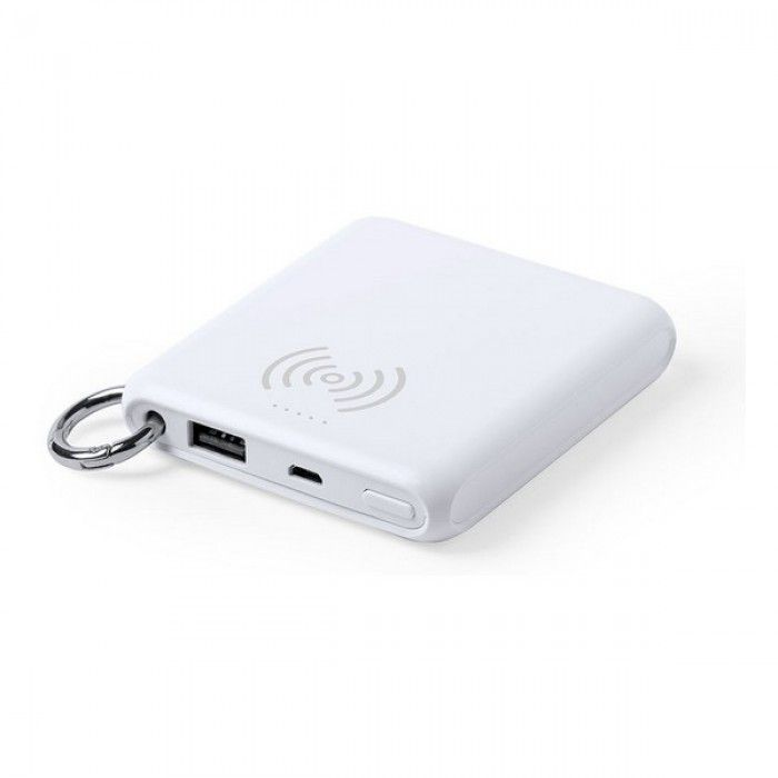 Power Bank com Carregador sem Fios Branco 146261