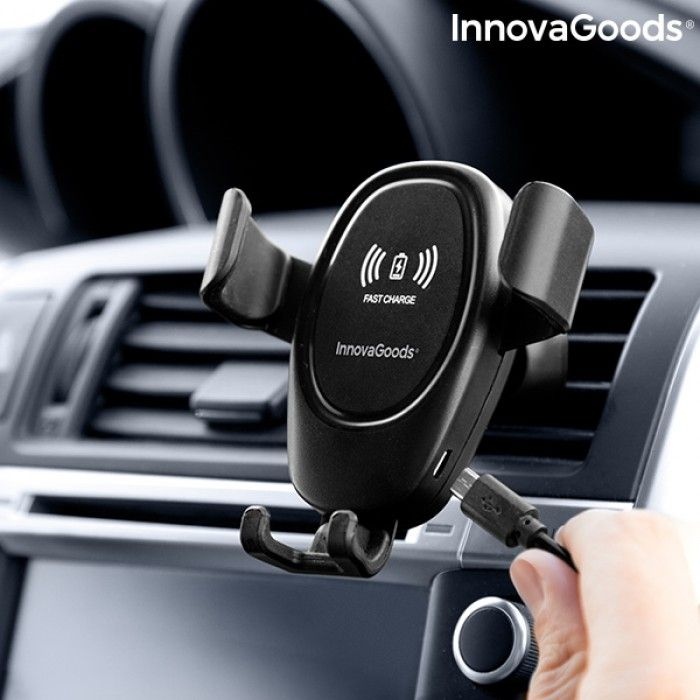 Mobile Phone Holder with Wireless Charger for Cars Wolder InnovaGoods