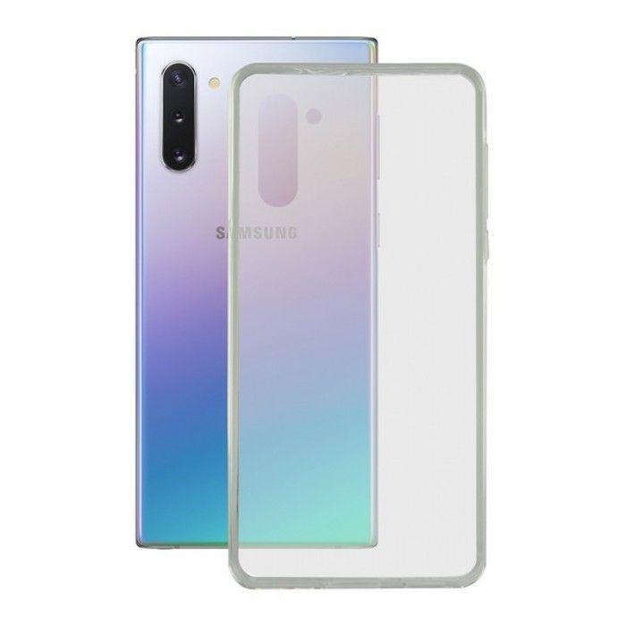Capa para o Telemóvel com Extremidades em TPU Samsung Galaxy A81 KSIX Flex Transparente
