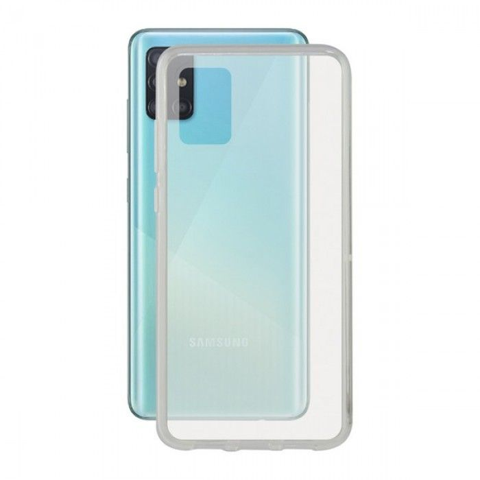 Mobile Phone Case with TPU Edge Samsung Galaxy A51 KSIX Flex Transparent