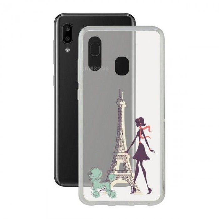 Funda para Móvil Samsung Galaxy A20e Contact Flex France TPU