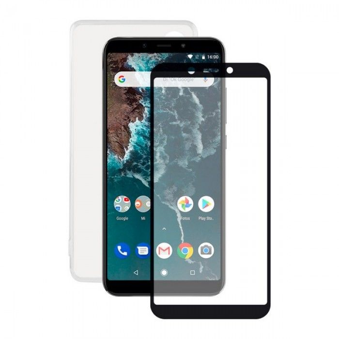 Protetor de vidro temperado para o telemóvel + Estojo para Telemóvel Xiaomi Mi A2 Contact