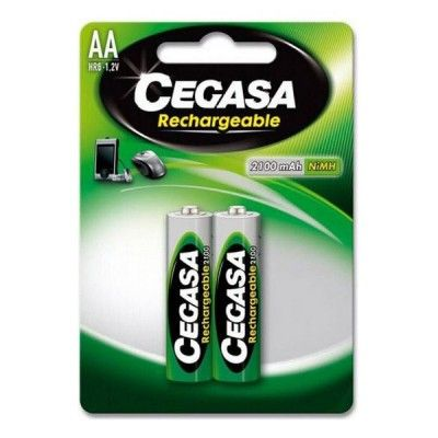 Rechargeable Batteries Cegasa HR6 2100 mAh (2 uds)