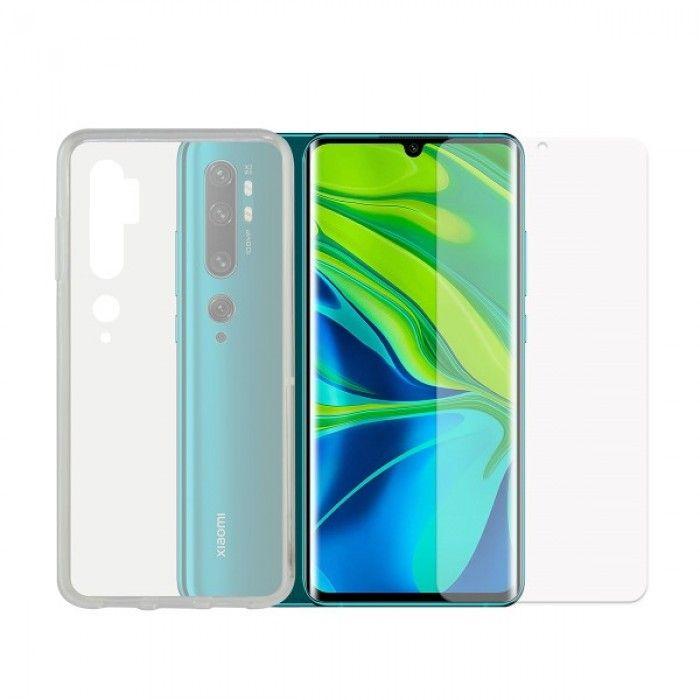 Tempered Glass Mobile Screen Protector + Mobile Case Xiaomi Redmi Note 7 Contact TPU