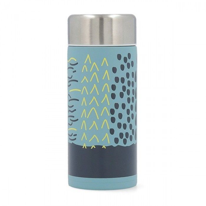 Travel thermos flask Quid Energy Stainless steel 0,2L