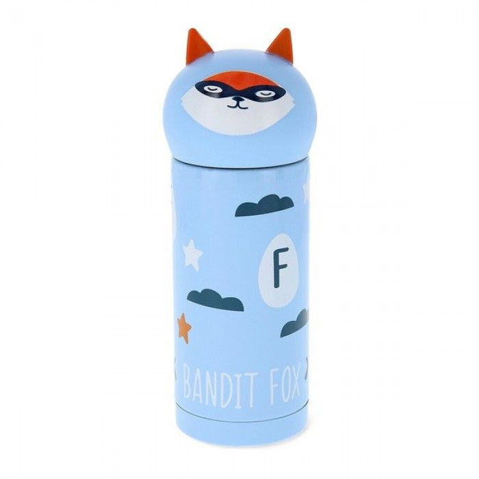 Travel thermos flask Quid Little Fox Go Hero Stainless steel 0,25 L