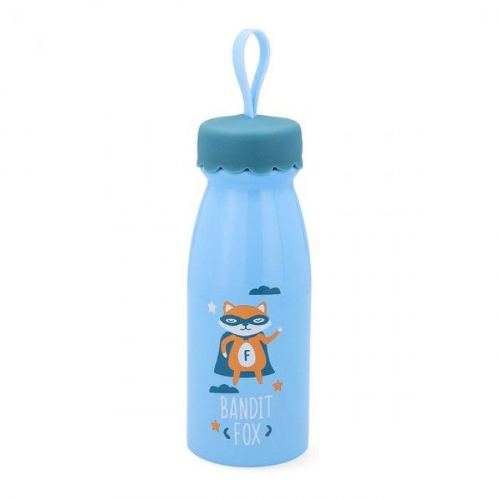 Travel thermos flask Quid Little Fox Go Hero Stainless steel 0,35 L