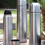 Travel thermos flask Quid Stainless steel 1 L