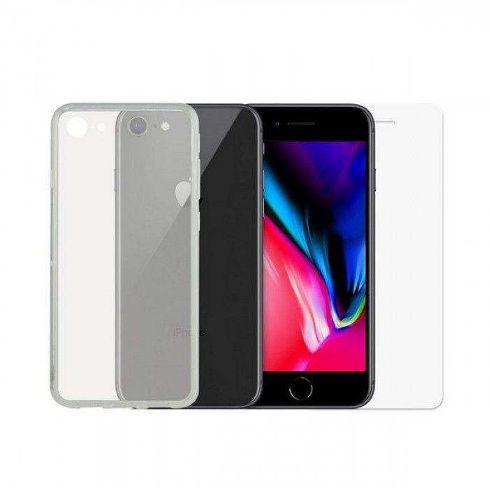 Tempered Glass Mobile Screen Protector + Mobile Case iPhone 7/8/SE2020 Contact