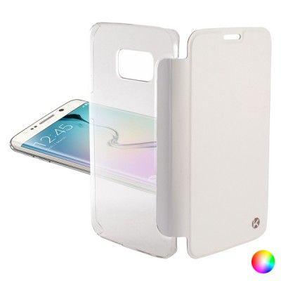 Capa tipo Livro para o Telemóvel Samsung Galaxy S6 Edge KSIX Crystal
