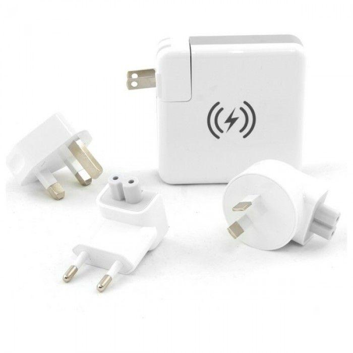 Wireless Power Bank KSIX Travelling Charging 4in1 6700 mAh White