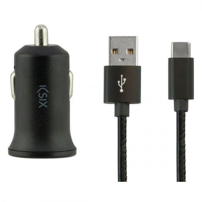 Carregador de Carro KSIX USB 2.4A Preto