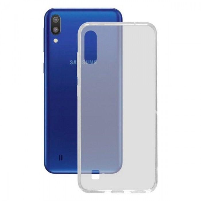 Mobile cover Samsung Galaxy M10 KSIX Flex TPU Transparent Flexible