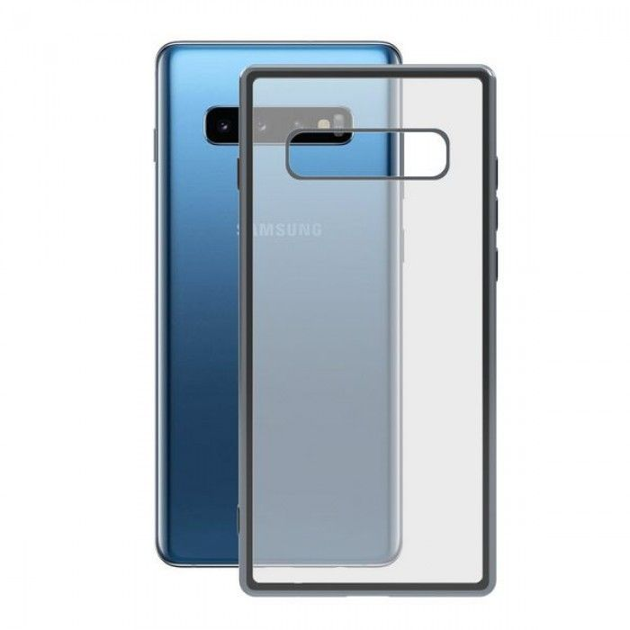 Mobile cover Samsung Galaxy S10 KSIX Flex Metal TPU Transparent Grey Metallic