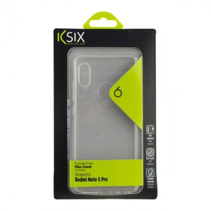 Mobile cover Xiaomi Redmi Note 5 Pro KSIX Flex TPU Transparent