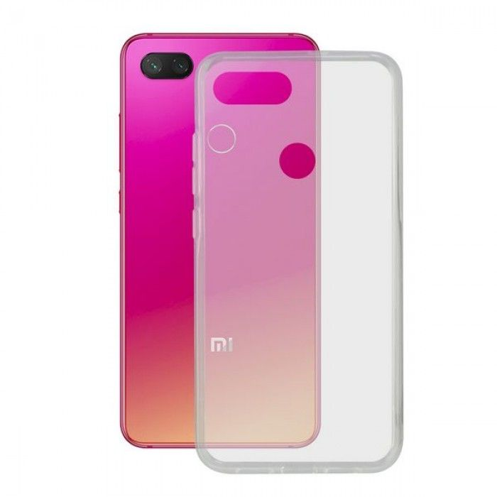 Capa para Telemóvel Xiaomi Mi 8 Lite KSIX Flex TPU Transparente