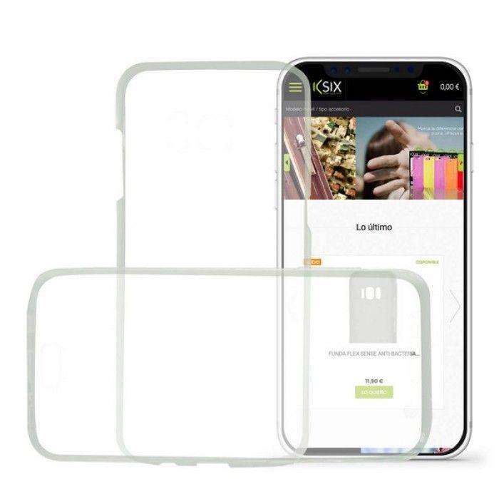 Capa para Telemóvel Iphone X KSIX Flex 360 (2 Pcs)