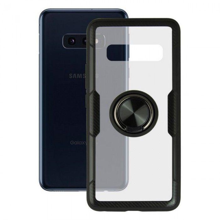 Capa com Anel Galaxy S10e KSIX 360 Ring Transparente