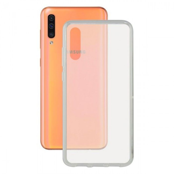 Mobile cover Galaxy A50 KSIX Flex Transparent