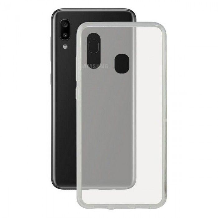Capa para Telemóvel Galaxy A30 KSIX Flex Transparente
