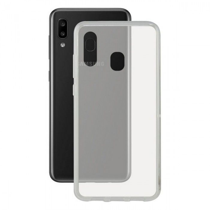 Mobile cover Galaxy A30 KSIX Flex Transparent