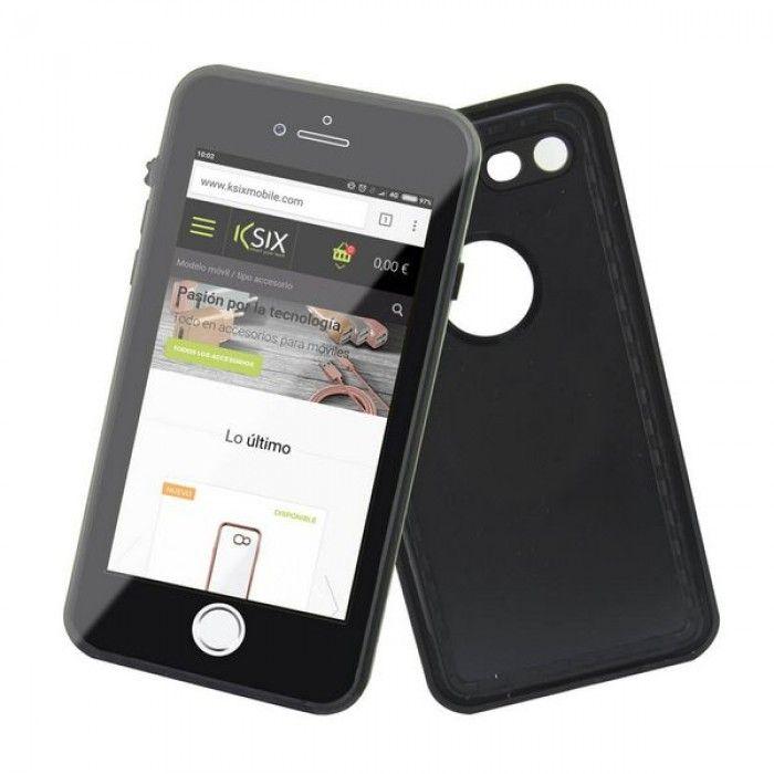 Capa para Telemóvel Iphone 7/8 KSIX Preto (Submergível)