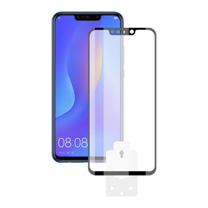 Tempered Glass Mobile Screen Protector Huawei Mate 20 Pro KSIX 3D Black