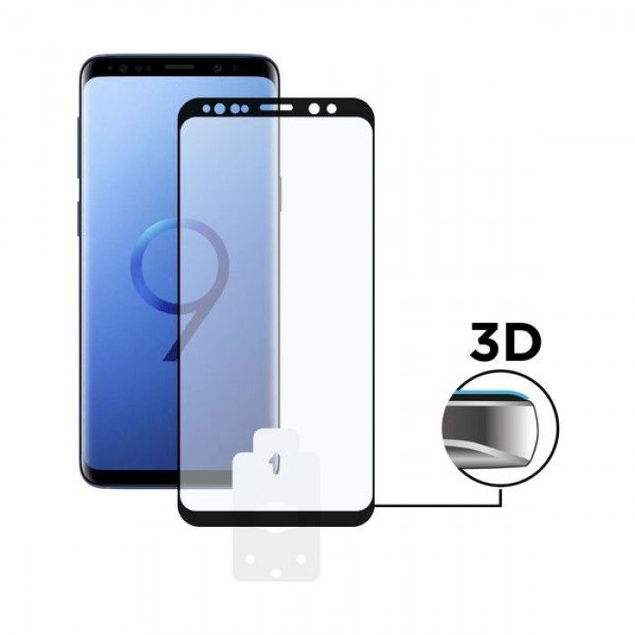 Tempered Glass Mobile Screen Protector Galaxy S9 3D Black