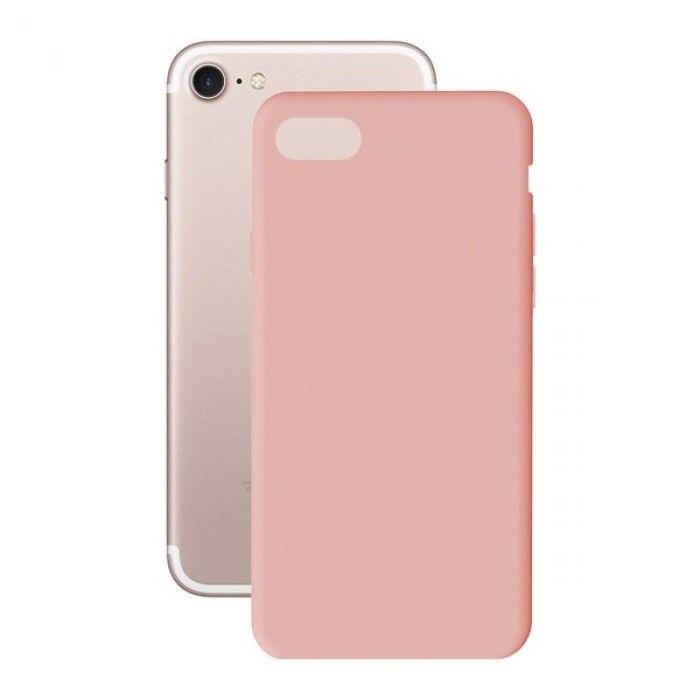 Capa para Telemóvel Iphone 7+/8+ KSIX Soft Cover TPU Cor de rosa