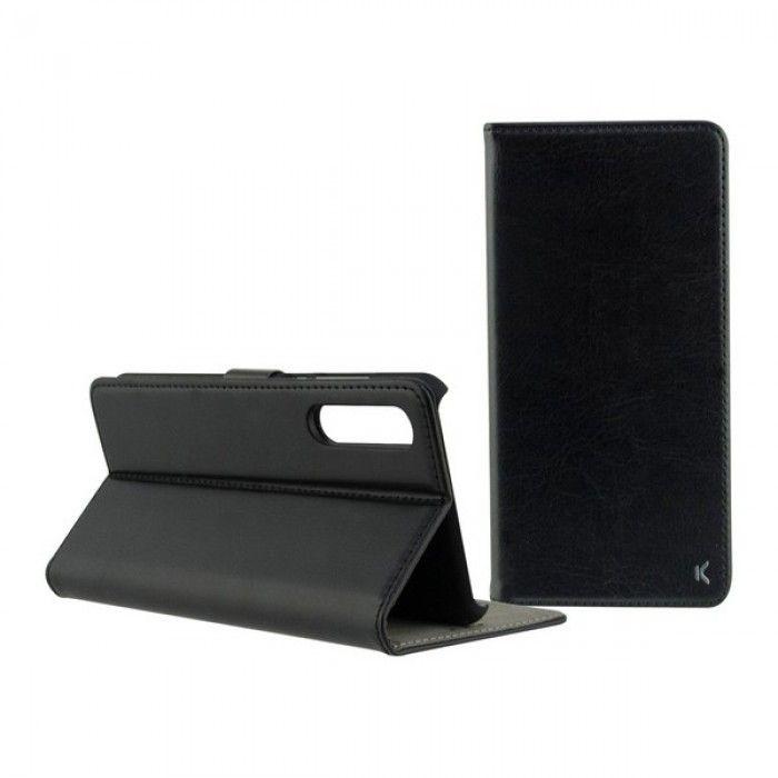 Capa tipo Livro para o Telemóvel Xiaomi Mi Note 10/mi Note 10 Pro KSIX Standing Preto