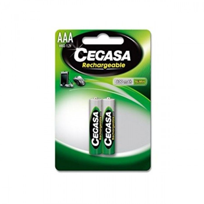 Rechargeable Batteries Cegasa HR03 800 mAh (2 uds)