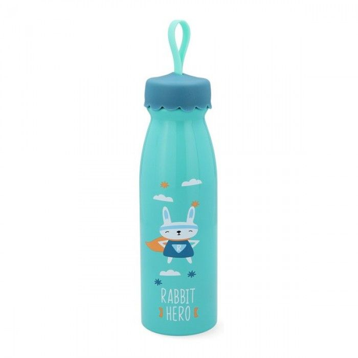 Travel thermos flask Quid Rabit Go Hero Multicolour Stainless steel 0,45 L