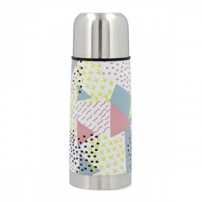 Travel thermos flask Quid Energy Stainless steel 0,35 L