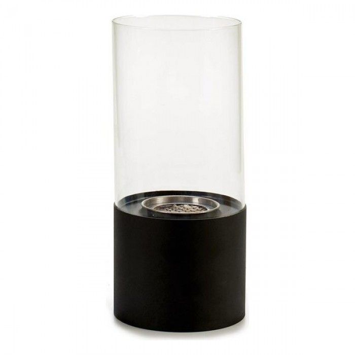 Burner Black Metal Glass Metal (12 x 26 x 12 cm)