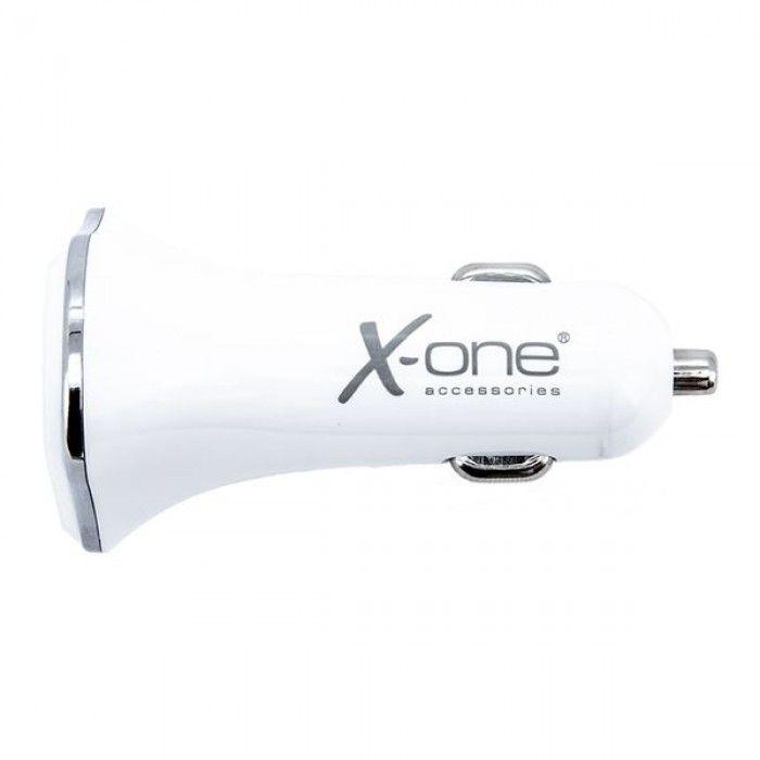 Carregador de Carro ONE 3 x USB-A Branco