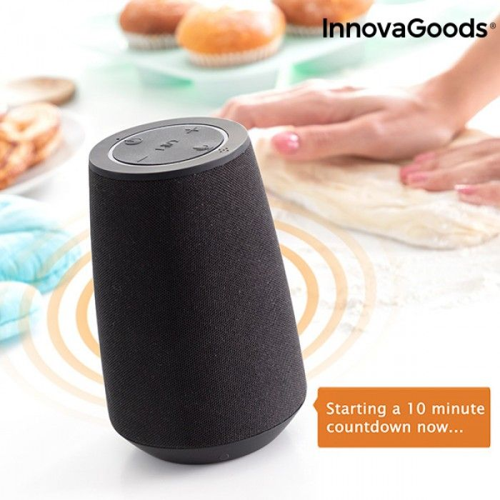 Coluna Bluetooth Inteligente Assistente de Voz VASS InnovaGoods