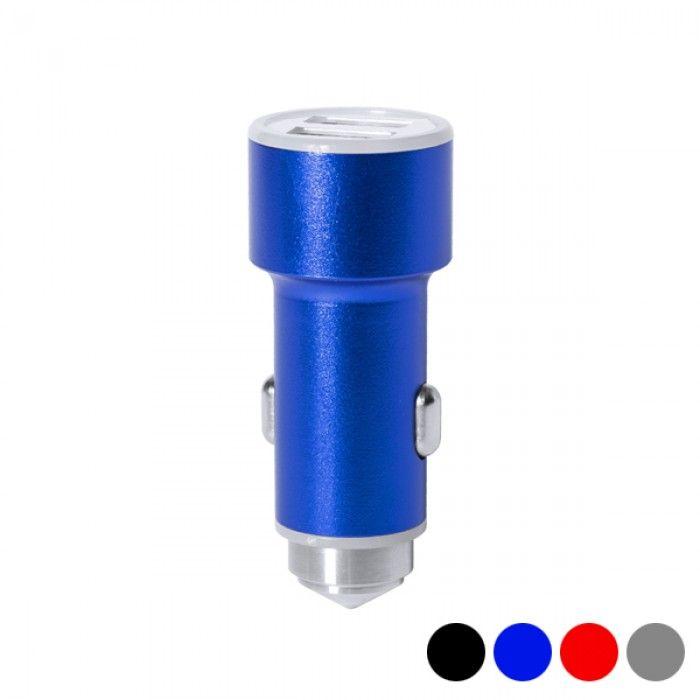 Carregador USB para Automóvel com Martelo Quebra Vidros 2100 mAh 145587
