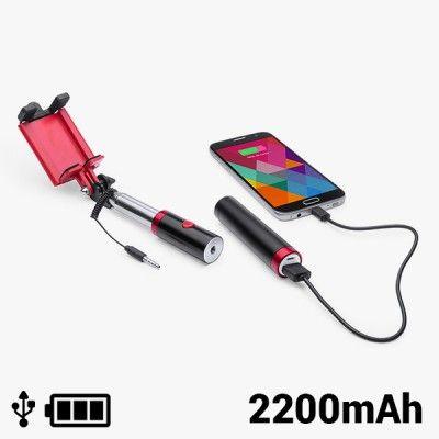 Bastão Selfie com Power Bank 2200 mAh 145200